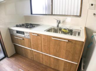 キッチンリフォーム 費用を抑えながら機能性は高くしたキッチン