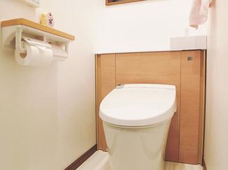 トイレリフォーム 孫も使いやすい、手洗い付きトイレ