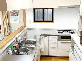 キッチンリフォーム 収納スペースを増やし、利便性がアップした水廻り