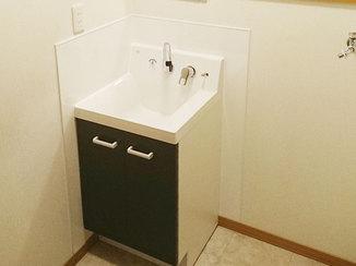 洗面リフォーム 不便を解消し、使い勝手をよくした水廻り