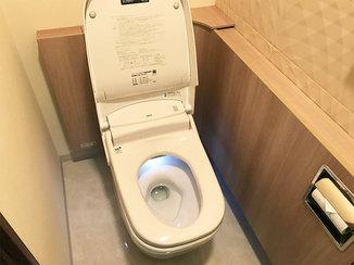 トイレリフォーム オシャレにニオイ対策した、キレイが続くトイレ