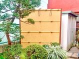 エクステリアリフォームお庭になじむ、劣化しにくい竹垣の目隠しフェンス