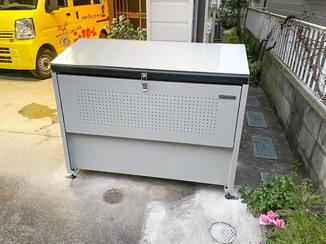 エクステリアリフォーム 雨風にも強く便利な、敷地内で使えるゴミステーション