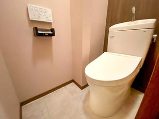 トイレリフォーム ガラッとイメージを変えた、使いやすいトイレ